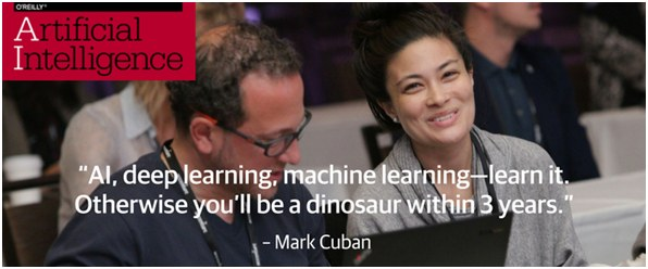 AI, Deep Learning, Machine Learning–Learn It or You'll Become a Dinosaur (O'Reilly AI, NYC, Jun 26-29)