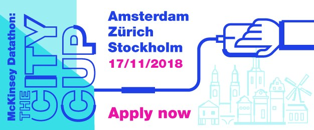 McKinsey Datathon: The City Cup 17 November, Amsterdam, Stockholm and Zurich. Apply Now