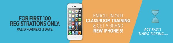 Enroll in our classroom training and get a brand new iPhone 5!