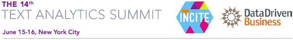 Text Analytics Summit, June 15-16, 2015, New York, NY