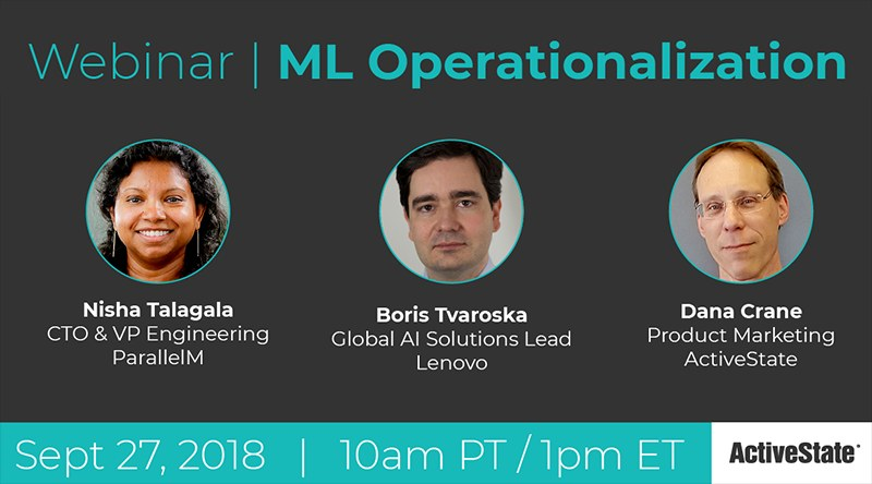 [Live Webinar] MLOps: Machine Learning Operationalization, Sep 27