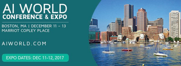 AI World coming to Boston, December 11-13
