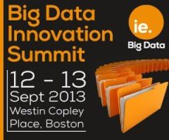 Big Data Innovation Summit, Sep 12-13, Boston