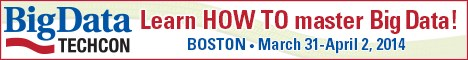 BigData TechCon: Learn HOW TO Master Big Data, Mar 31-Apr 2, Boston