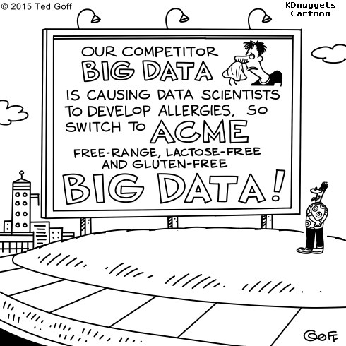 Cartoon: A solution for Data Scientists allergies caused by Big Data