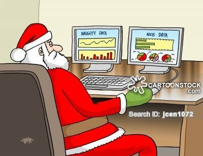 Cartoon Christmas Nice Naughty Data