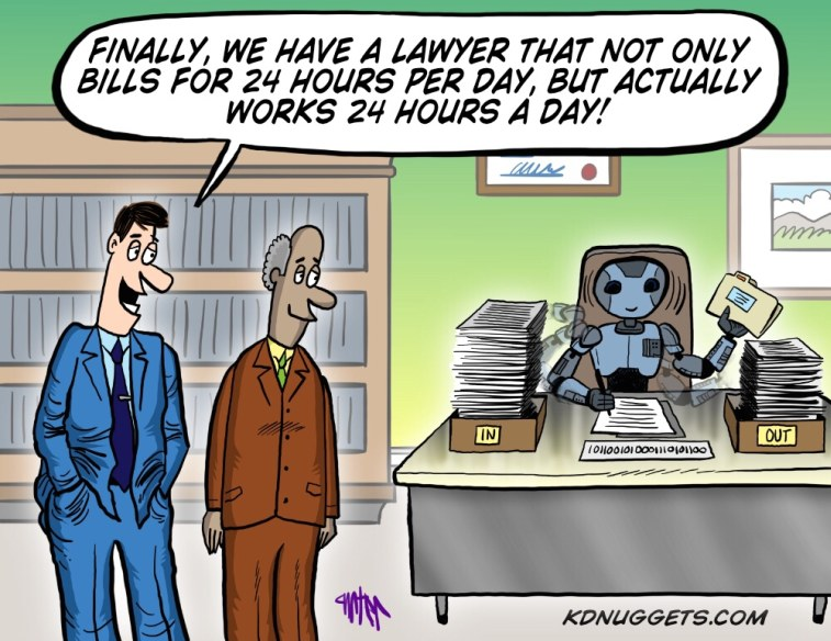 Cartoon: AI Lawyer