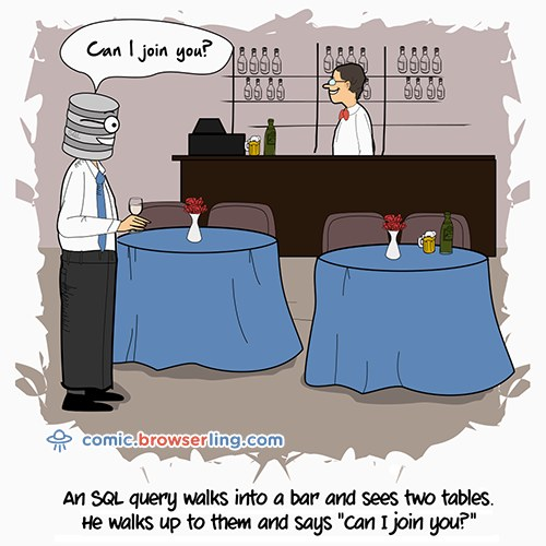 Cartoon: SQL Tables