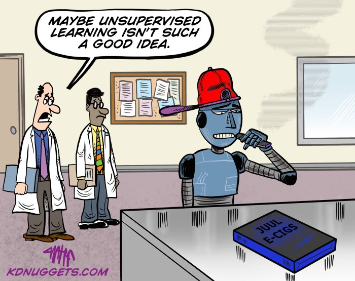 Cartoon: Unsupervised Machine Learning?