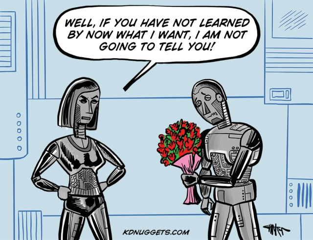 Cartoon: Valentine's Day or Machine Learning Problems in 2118