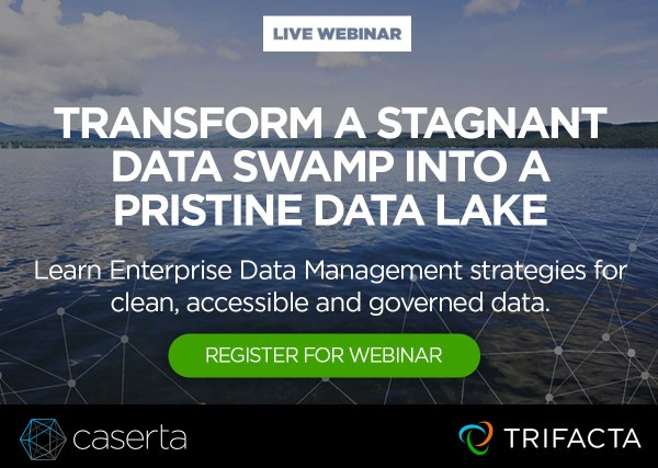 Webinar: Transform Your Stagnant Data Swamp into a Pristine Data Lake, Nov 8