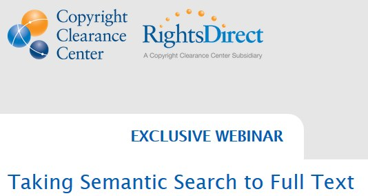 Webinar: Taking Semantic Search to Full Text, Nov 7