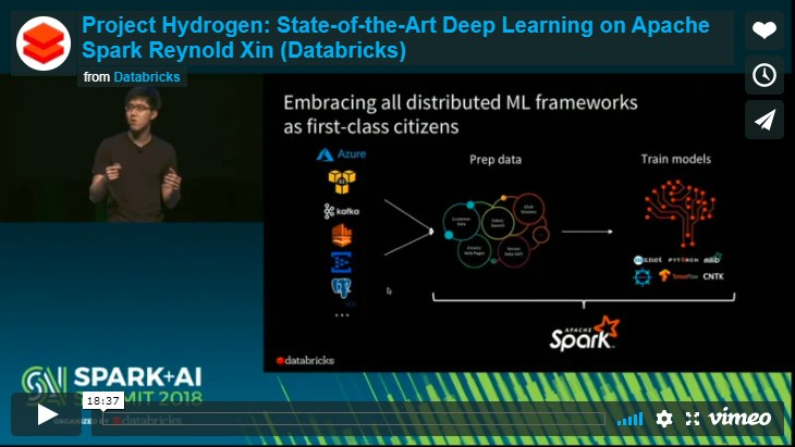 Project Hydrogen, new initiative based on Apache Spark to support AI and Data Science