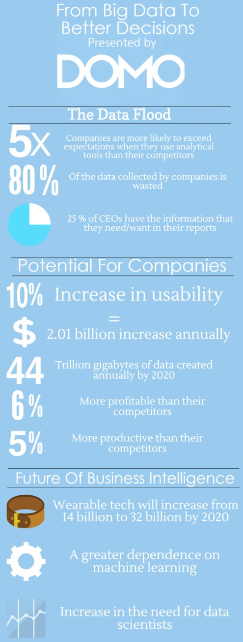 Domo: From Big Data to Big Decisions Infographic and BI Guide