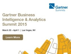 Gartner BI & Analytics Summit, Mar 30 - Apr 1, Las Vegas