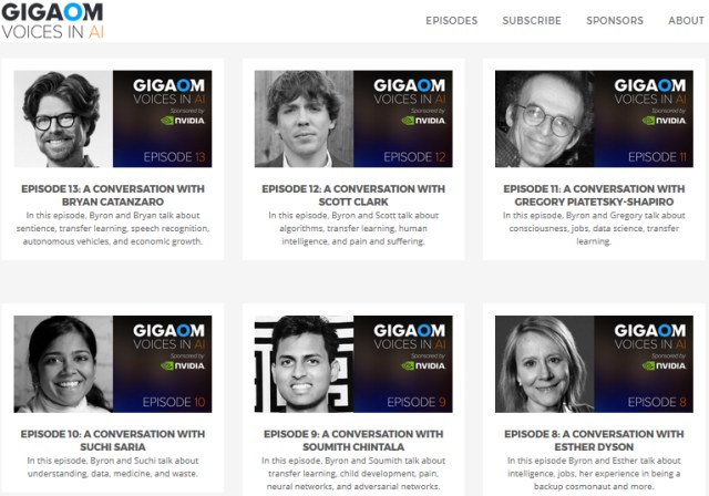 Gigaom Voices in AI Episodes 7-13