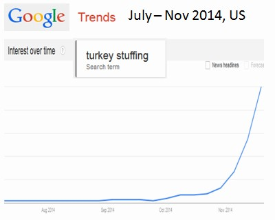 Google Trends for Turkey stuffing in US