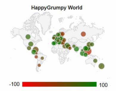 Happygrumpy World Sentiment Map, April 2015