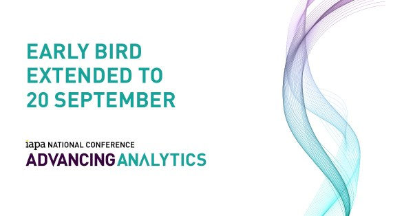 Iapa Advancing Analytics 2017 Early Bird Extended