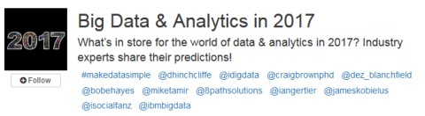Ibm Big Data Analytics 2017 Crowdchat