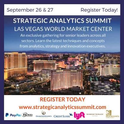 Strategic Analytics Summit, Las Vegas, Sep 26-27
