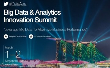 Big Data & Analytics Innovation Summit, Singapore, March 1-2, Offer