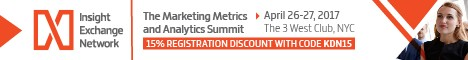 Marketing Metrics and Analytics Summit, New York, Apr 26-27 – Offer