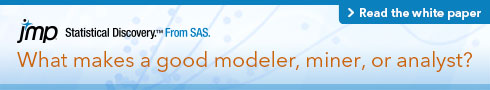 What makes a good modeler, miner, or analyst? Read the white paper.