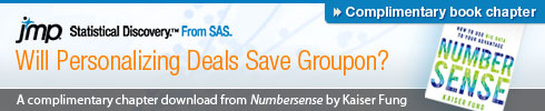 Will Personalizing Deals Save Groupon? A complimentary chapter download from Numbersense by Kaiser Fung.