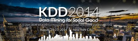 KDD-2014, Data Mining for Social Good