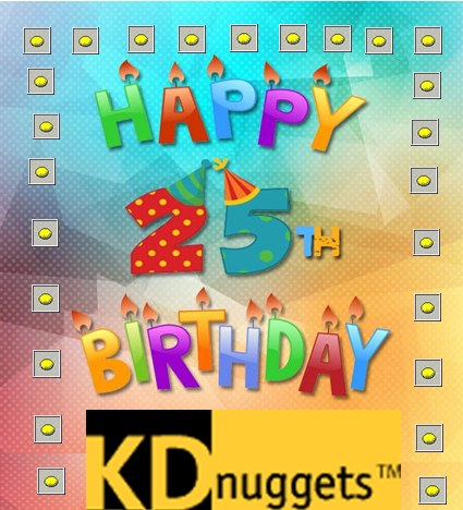 Happy 25th Birthday to KDnuggets