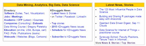 New KDnuggets Homepage with 2 new dynamic sections