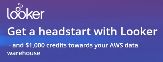 Get a headstart with Looker and 1K credits for your AWS data