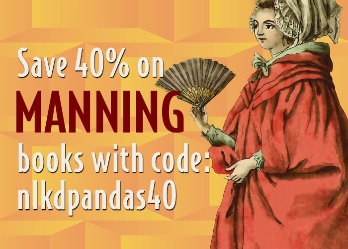 Manning Pandas in Action, save 40%