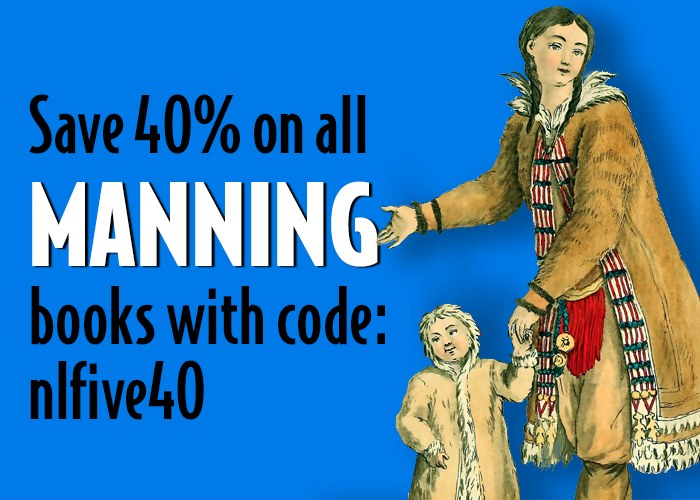 Save 40% on all Manning books