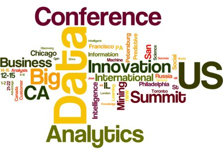 Word Cloud for April-July 2014 Meetings in Analytics, Big Data, Data Science