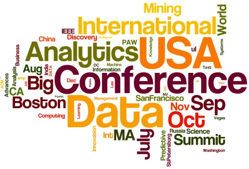July-December 2014 Meetings in Analytics, Big Data, Data Mining, and Data Science