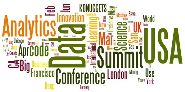 Upcoming Meetings in Analytics, Big Data, Data Mining, Data Science: March and Beyond