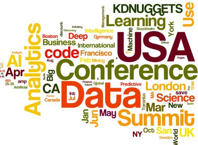 Upcoming Meetings in AI, Analytics, Big Data, Data Science, Deep Learning, Machine Learning: April and Beyond