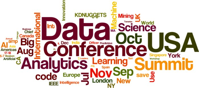 Upcoming Meetings in AI, Analytics, Big Data, Data Science, Deep Learning, Machine Learning: July and Beyond