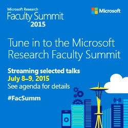 Microsoft Research Faculty Summit, 2015