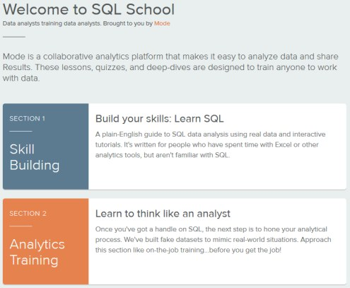 Welcome to SQL School