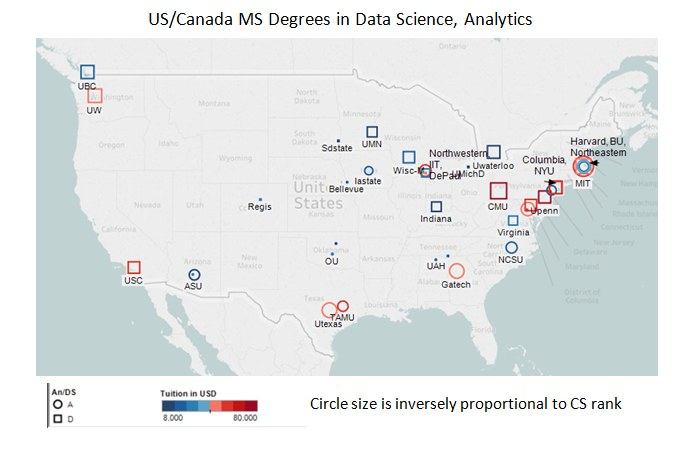 Best Masters in Data Science and Analytics in US/Canada