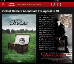 Netflix violent thrillers for cats