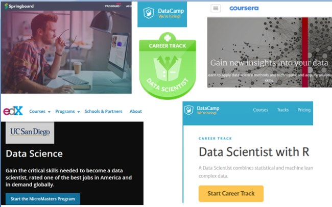 Online Data Science Tracks 2017
