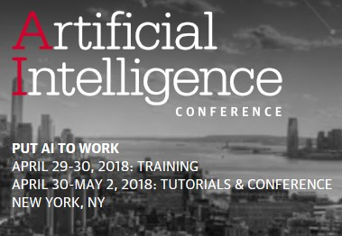 Artificial Intelligence (AI) Conference, April 29 – May 2, 2018, NYC – Offer