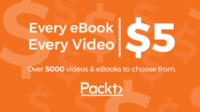 $5 Data science eBooks and videos from Packt