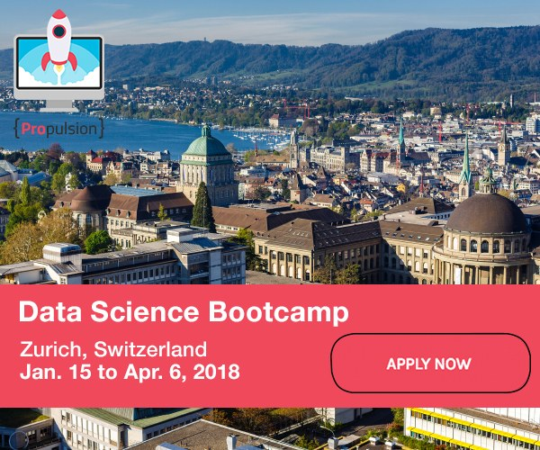 Data Science Bootcamp in Zurich, Switzerland, January 15 – April 6, 2018