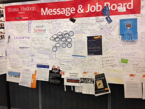 Strata + Hadoop 2015 San Jose - Jobs board