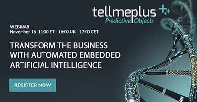 Webinar: Transform the business with automated embedded Artificial Intelligence, Nov 16